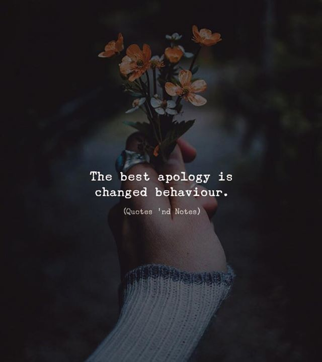The best apology is changed behaviour. via (http://ift.tt/2FT1ohY)