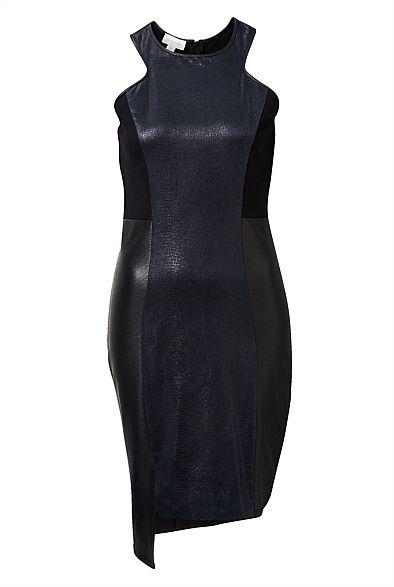 Texture Contrast Dress