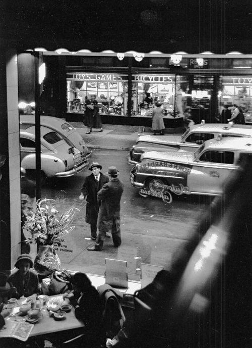 New York 1950 by David Vestal: 59Th Street, Automat Cafeteria, New York, Nyc, David Vestal, Photo, 50S