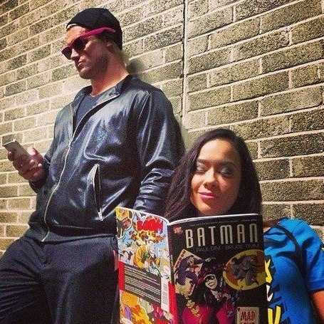AJ Lee and Dolph Ziggler, and a batman graphic novel