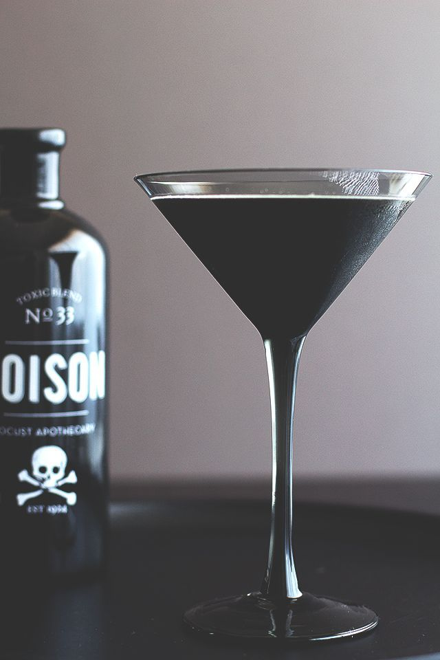 The Black Beard: Halloween cocktail recipe with a clever tip for making it black.