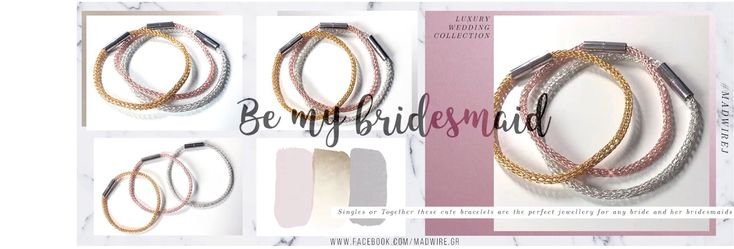 Elegant wire bracelets ideal for bridesmaids to wear during the wedding and keep after as a gift. They come in gold, silver or rose gold. Separate or together it's the best   #wedding #accessories #jewelry #jewellery #gold #silver #rosegold #gilt #viking #vikingknit #wire #wearableart #bracelet #fashion #trendy #elegant #luxury