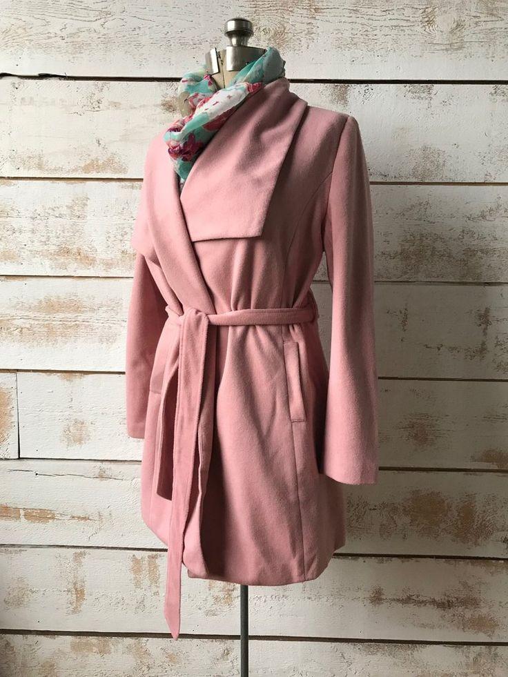 Pink Laurel Wool Trench Coat