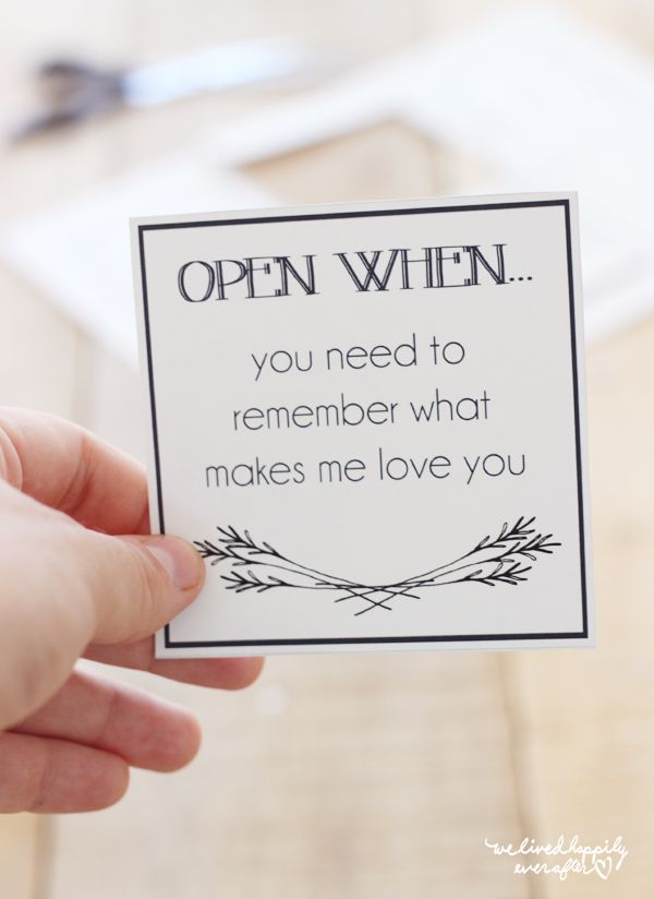 "Soforthilfe in Fernbeziehungen: ""Open When""-Briefe - free printables inklusive"