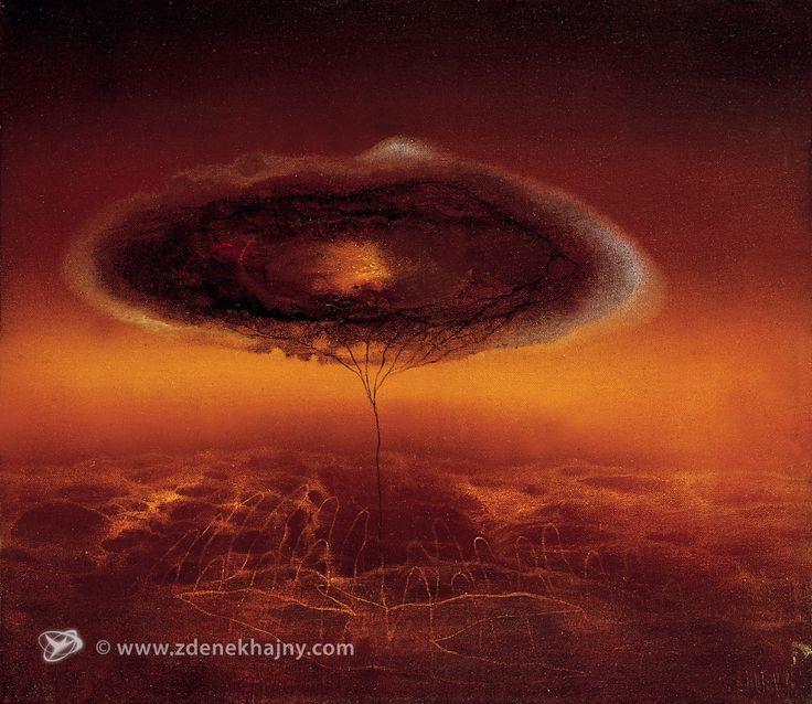 Odkud rostou stromy, 1986, olej, 25 x 30 - ZDENĚK HAJNÝ - Galerie Cesty ke světlu