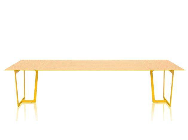Modular steel and wood meeting table ARO by JOSE MARTINEZ MEDINA