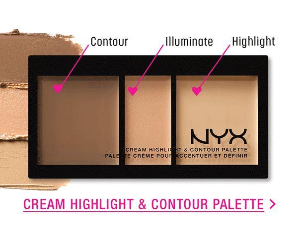 Makeup Beauty Blog Artist   Sips N Tips Advice: 3 New NYX CREAM HIGHLIGHT & CONTOUR PALETTES