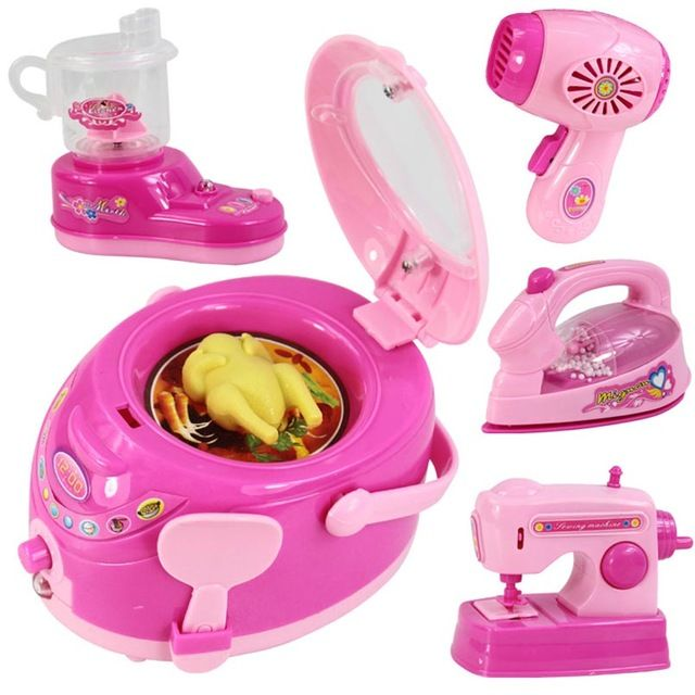Kids Educational Toys Mini Household Appliances Toy Kitchen Play Cooker Pretend