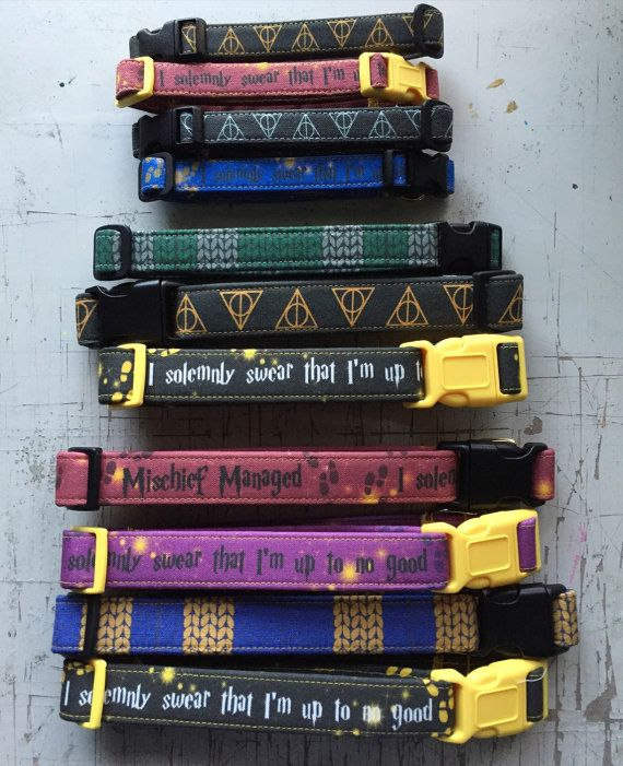 Harry Potter Dog Collars by CreativeFiasco on Etsy