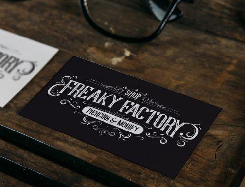 Logo pour la Freaky Factory, salon de tatouage au Portugal.