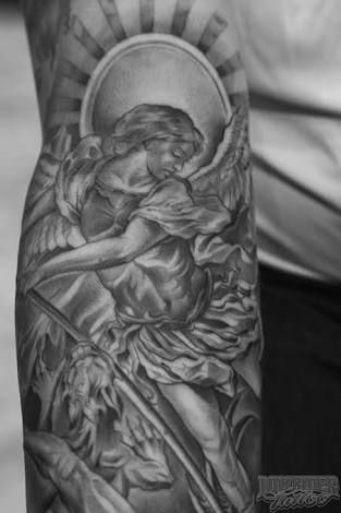 33 best tattoos images on pinterest archangel michael saint michael and saint michael tattoo. Black Bedroom Furniture Sets. Home Design Ideas