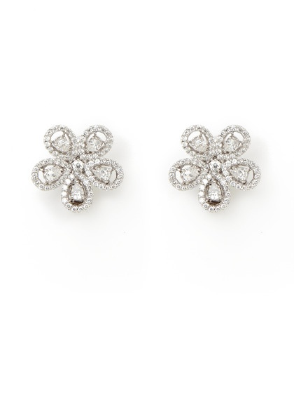 Multi-Cut Diamond Flower Earrings by Piranesi on Gilt.com