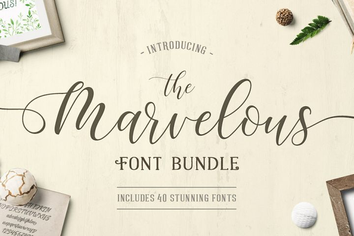 The Marvelous Font Bundle from FontBundles.net