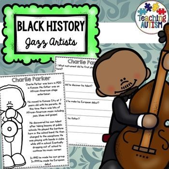 This resource includes 22 different comprehension activities. Each activity comes with 1 x story page and 1 x questions page. They are all based on the theme of Black History Month - Jazz Artists. This comprehension pack will be a great addition to your Black History Month
