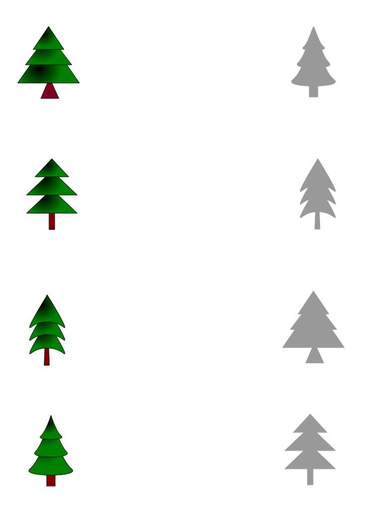 dopasowanki per i bambini - l'albero di Natale