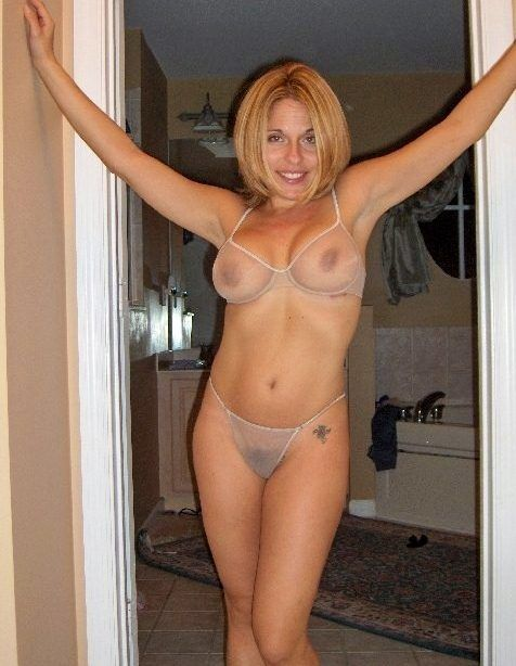 Sheer and milf panties bra