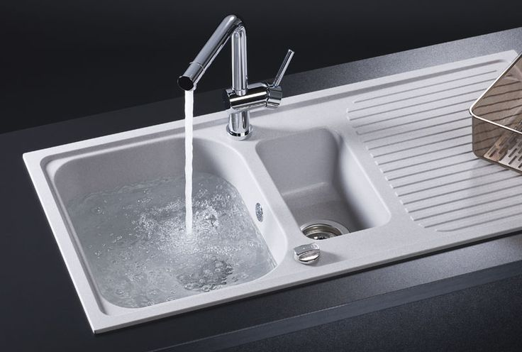 RUBUS-G 1.5 Bowl White Granite Sink