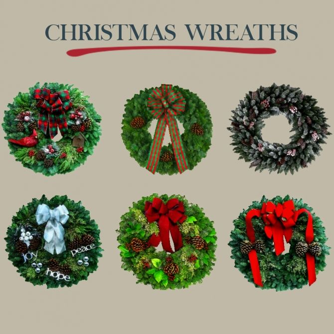 Christmas Wreaths at Leo Sims • Sims 4 Updates