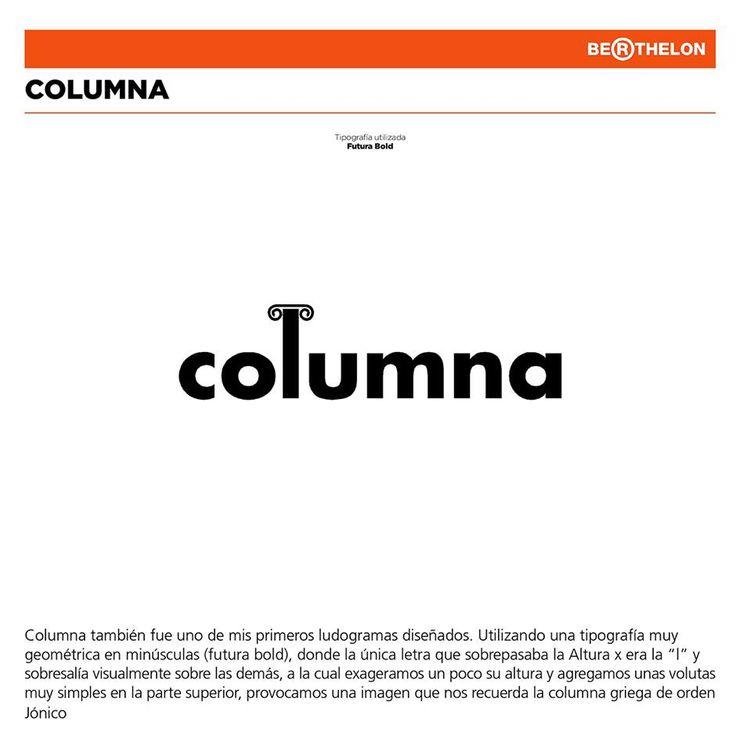 'Columna' (Jónica) in Futura Bold, from Juan Carlos Berthelon Ojeda's book 'LudoGramas': https://www.facebook.com/ludogramas