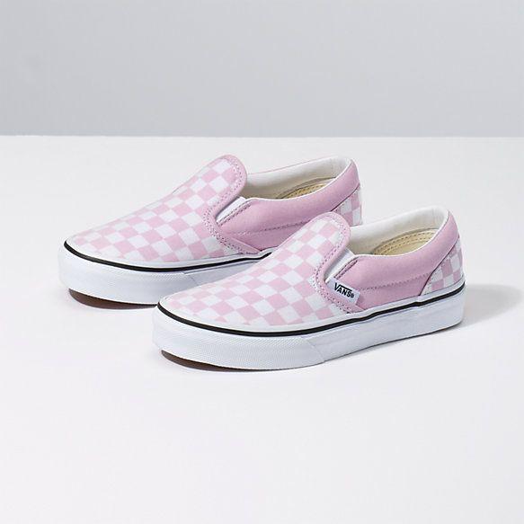 Kids Checkerboard Slip On | Shop Girls Shoes | Vans kids