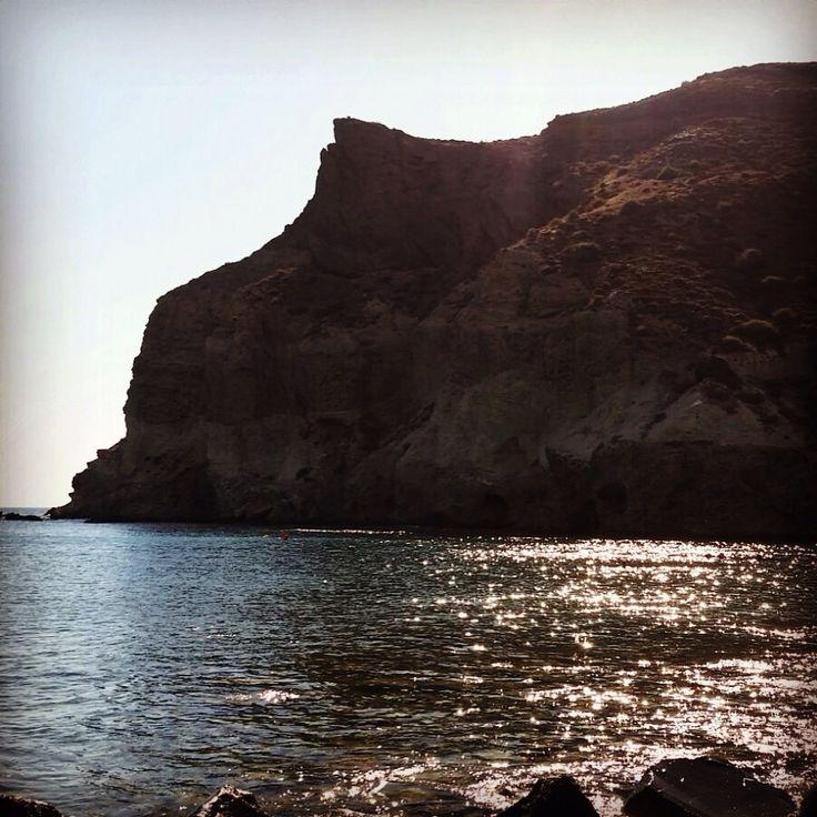 Kambia beach in Santorini