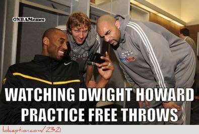 Dwight Howard Practicing Free Throws! - http://weheartnyknicks.com/funny-nba-memes/dwight-howard-practicing-free-throws