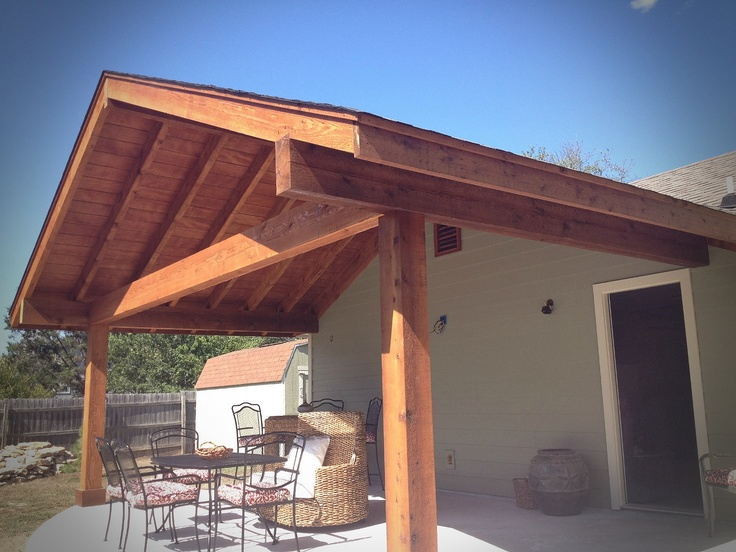 Exposed beam cedar roof porch pinterest beams and for Open beam front porch