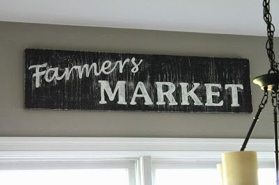DIY Farmers Market Sign - all things DIY.