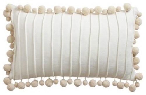 pom pom pillow at Ethan Allen: Linen Pom, Pom Poms, Pompoms, Oysters, Linens, Fringes, Pillows