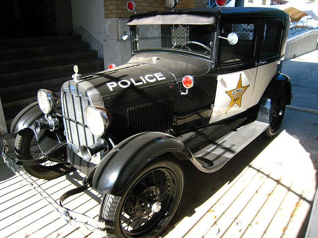 Old police car that I believe was amazing in its time.