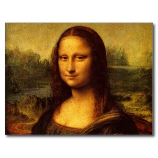 Leonardo Da Vinci Mona Lisa Fine Art Painting Postcard | Zazzle.com