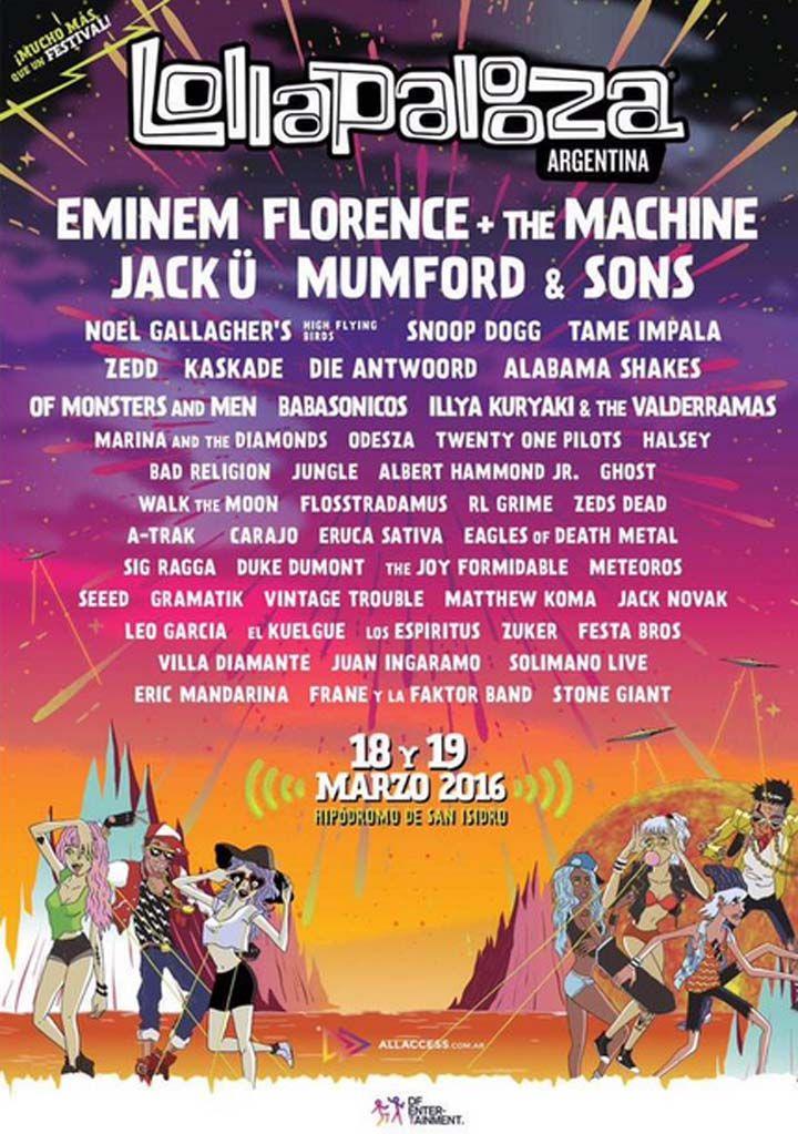 Se develó el line up del #Lollapalooza 2016. A través de #Twitter, se conocieron los artistas que tocarán en la tercera edición del festival. Enterate quiénes vienen. http://www.argnoticias.com/espectaculos/musica/item/38432-se-devel%C3%B3-el-line-up-del-lollapalooza-2016