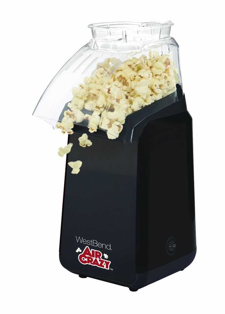 West Bend 82418BK Air Crazy Hot Air Popcorn Popper, Black * See this great product.