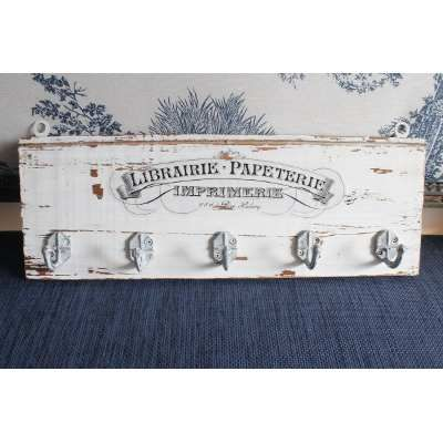Percheros De Pared Madera Vintage Shabby - $ 560,00