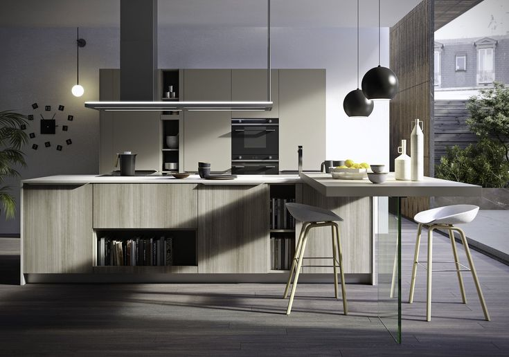 A faultless project with smooth simple structure. Feel is more than just a kitchen space, it is a living area. Clean lines, home solutions and a highly curated construction. The ideal solution for anyone who gravitates towards a fuss-free aesthetic but likes the practicality of a handle.