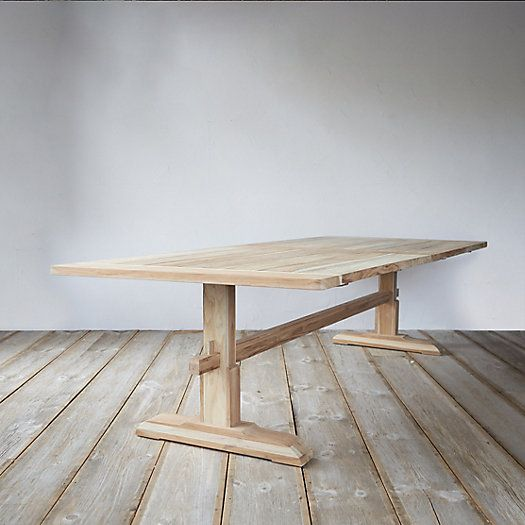 Protected Teak Keyed Dining Table, 9.5'
