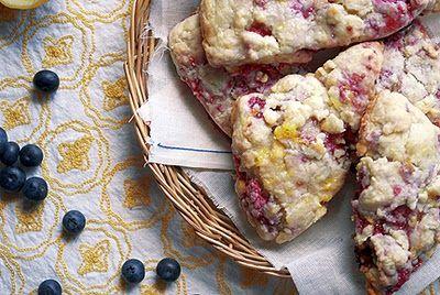 raspberry scones with lemon glaze