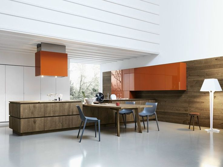 Oak Fitted Kitchen Without Handles CLOE   COMPOSITION 3   Cesar Arredamenti  · Eiche KüchenModerne ...