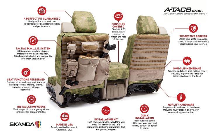 A-TACS® Tactical Custom Seat Covers