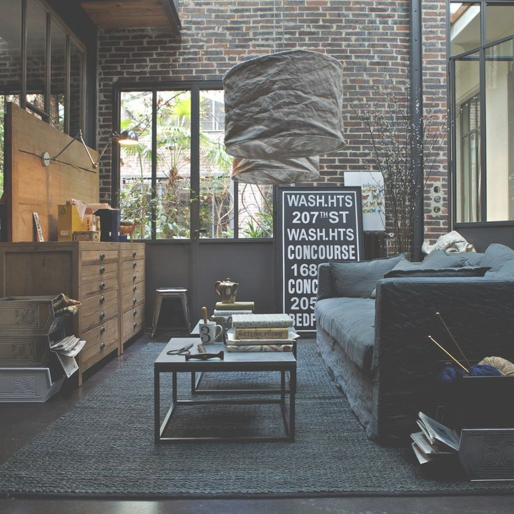 industrial loft living room