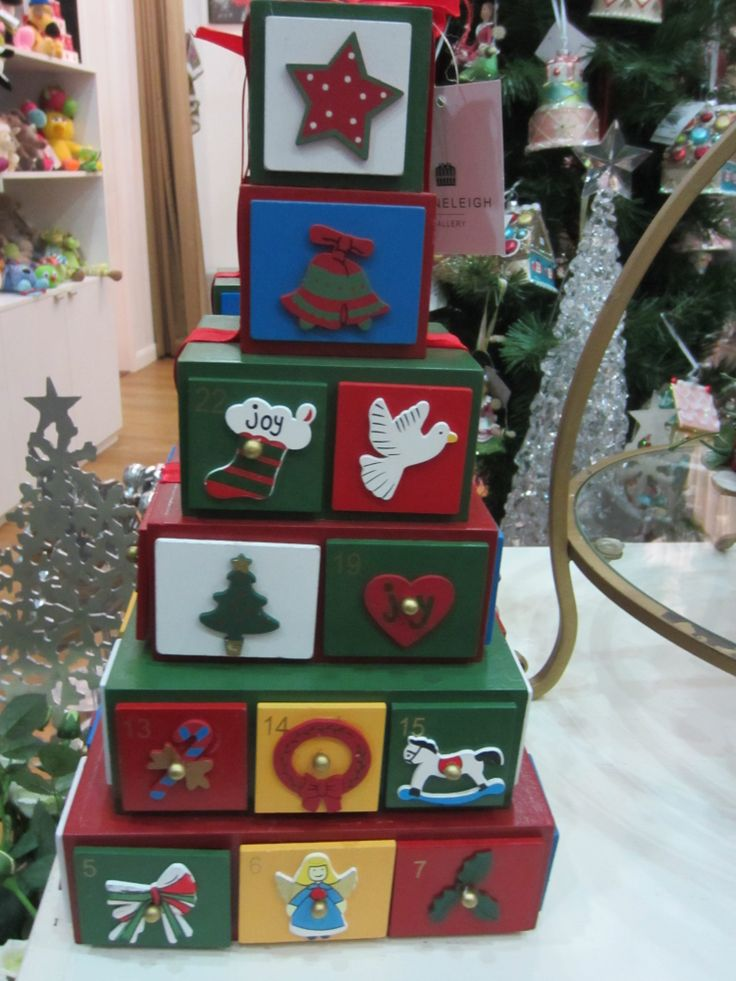 Advent calendar to fill with your own treats #christmas