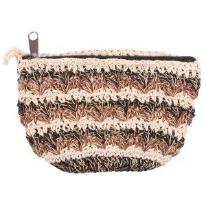 Mixed Hemp Cotton Crocheted Purse