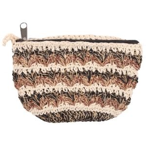 Mixed Hemp Cotton Crocheted Purse
