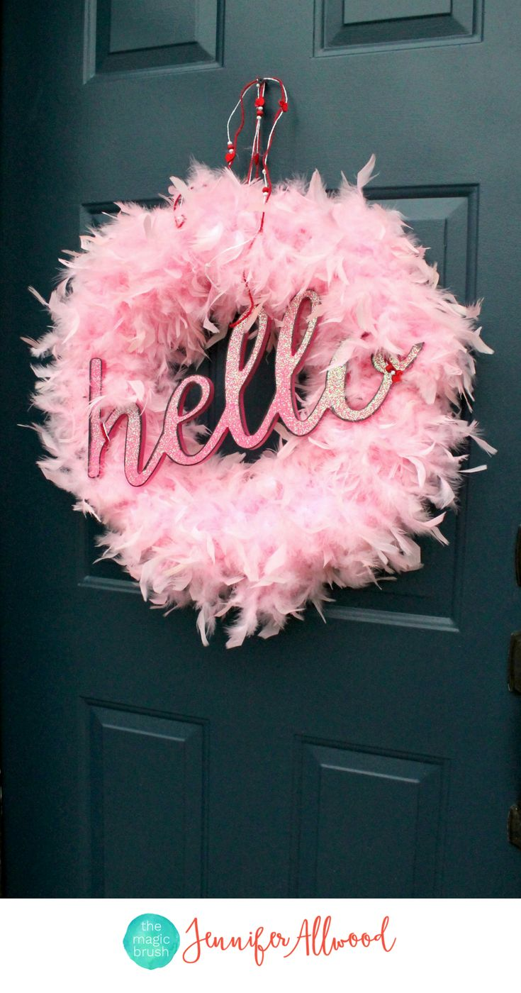 Best 132 front door and curb appeal images on pinterest home diy valentine wreath to add glamor to your front door rubansaba