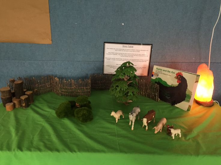 Hattie and the Fox story table