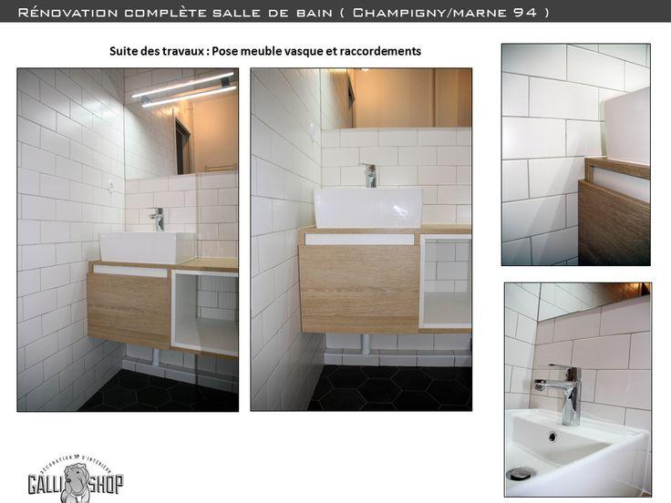 projet début chantier sdb rénovation complète + décoration d