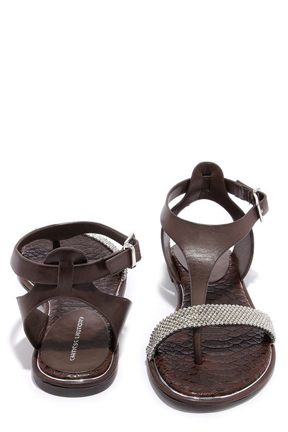 Chinese Laundry Gravity Chocolate Brown Beaded Sandals at Lulus.com!