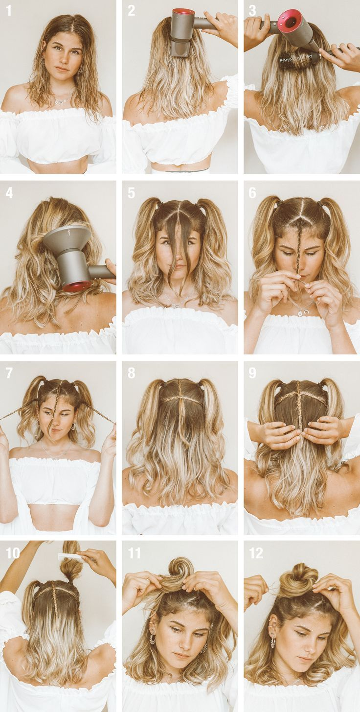 Tutorial: #Quick #& #Easy #Festival #Hairstyle #(for #short #hair