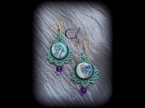 "Tutorial macramè orecchini ""Tiffany""/ Tutorial macrame earrings ""Tiffany""/ Diy tutorial - YouTube"