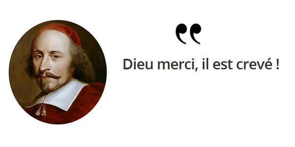 Cri du cœur de la famille à la nouvelle de la mort de #Mazarin ! #histoire de #France en #citations